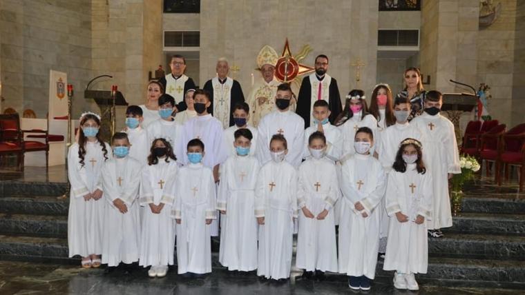 First Communion Mass at the Archangel Raphael Chaldean Cathedral in Baabda