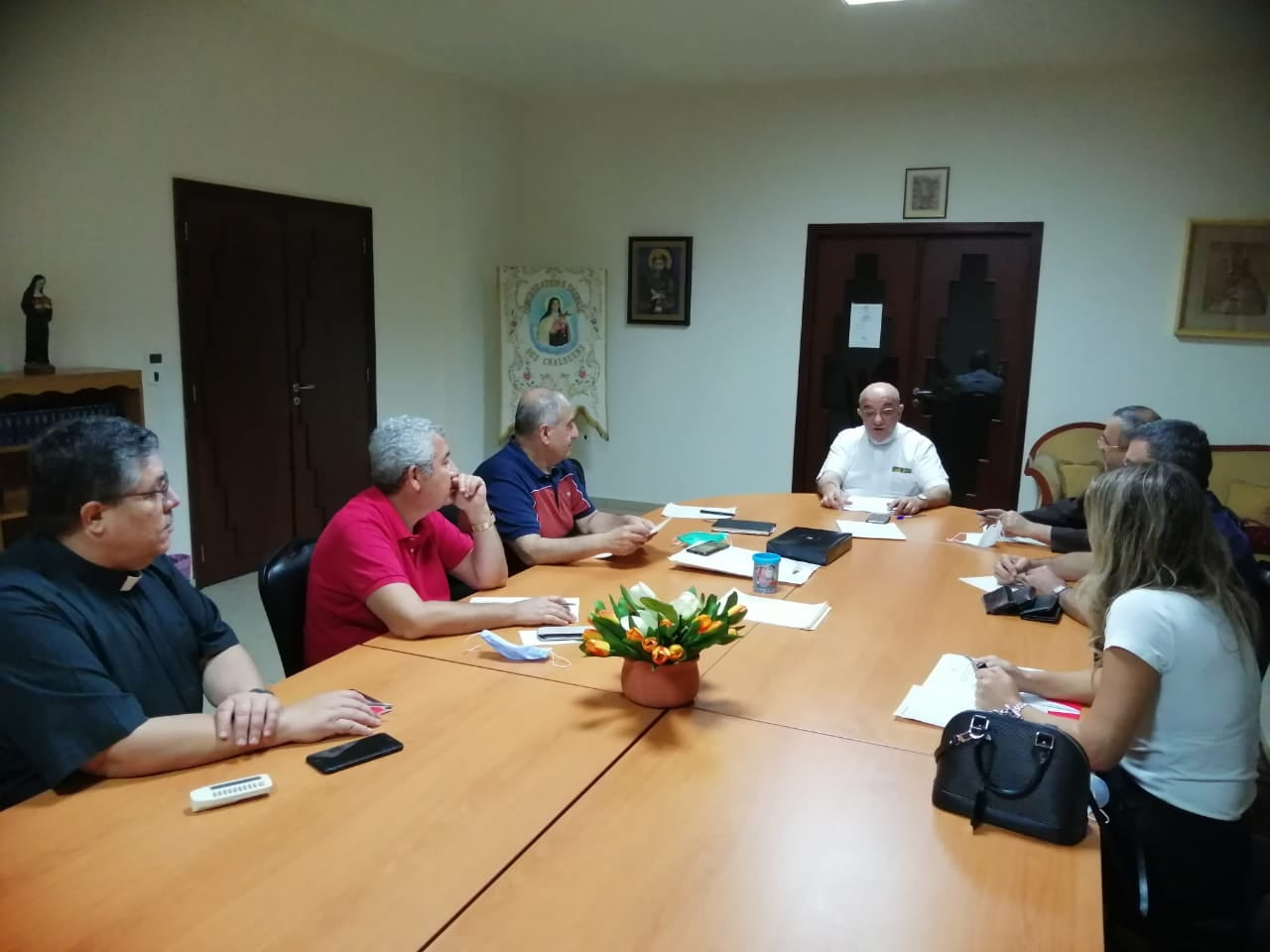 Cooperation meeting between the Chaldean Diocese and Caritas Lebanon