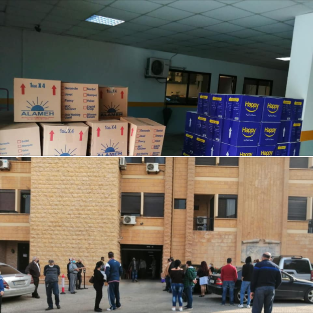 The Chaldean Diocese of Beirut distributes aid parcels