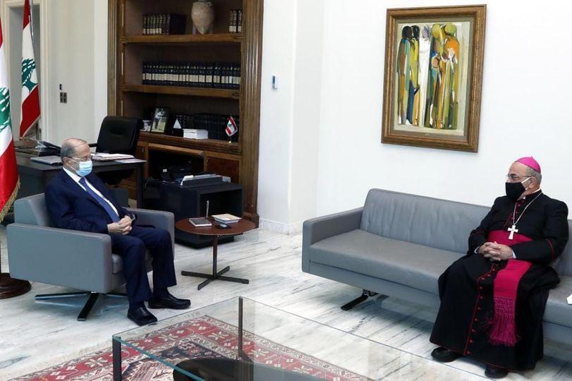 Bishop Michel Kassarji visits the Baabda Palace