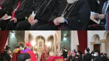 Chaldean delegation attends the funeral service of the Late Armenian Catholic Catholicos of Cilicia