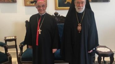 Bishop Michel Kassarji visits Metropolitan Elias Audi